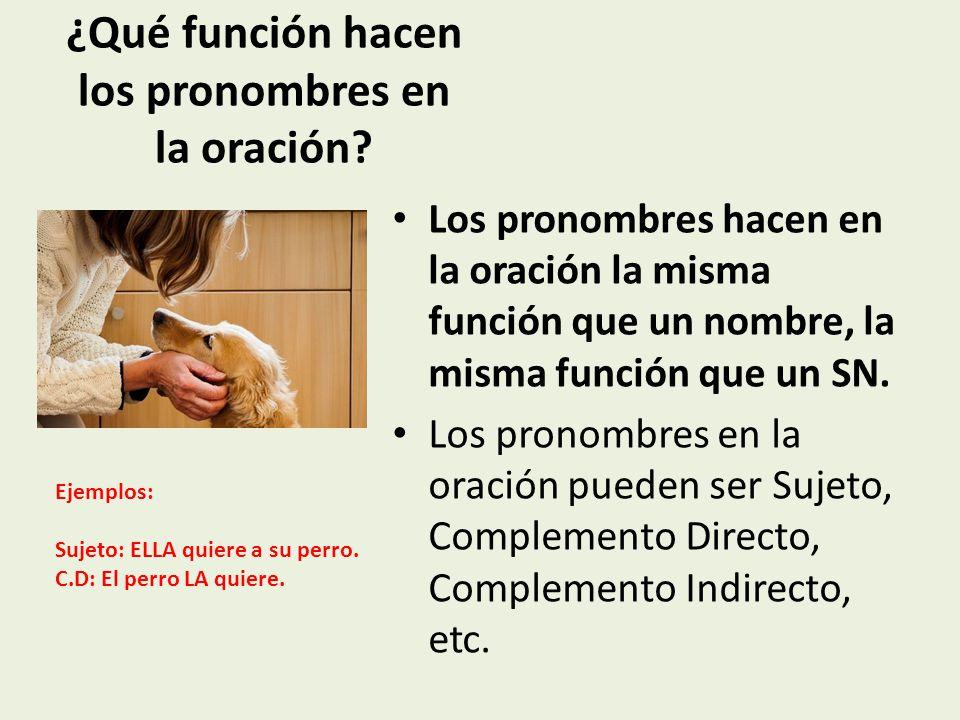 ¿Qué función hacen los pronombres en la oración.