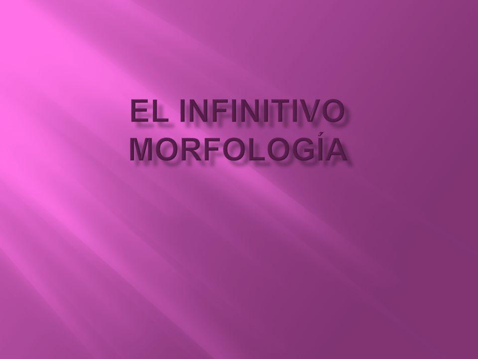 El infinitivo es una forma nominal del verbo.¿Qué quiere decir esto.