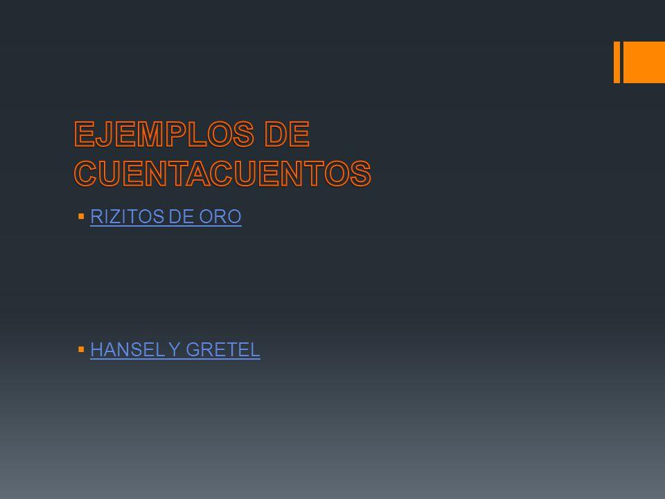 RIZITOS DE ORO HANSEL Y GRETEL