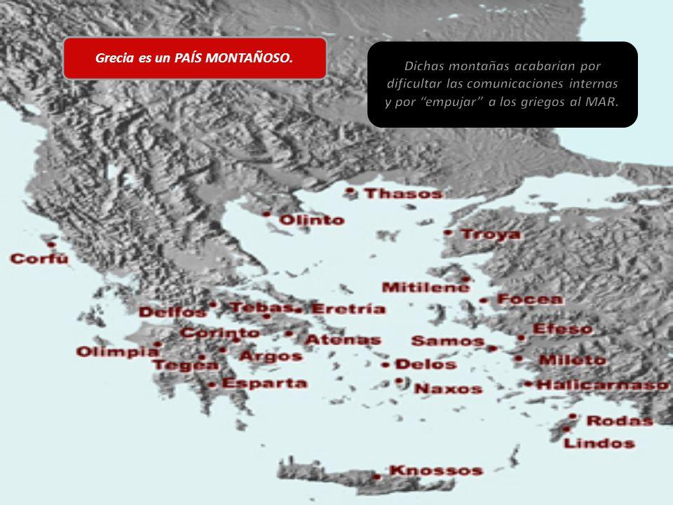 Grecia es un PAÍS MONTAÑOSO.