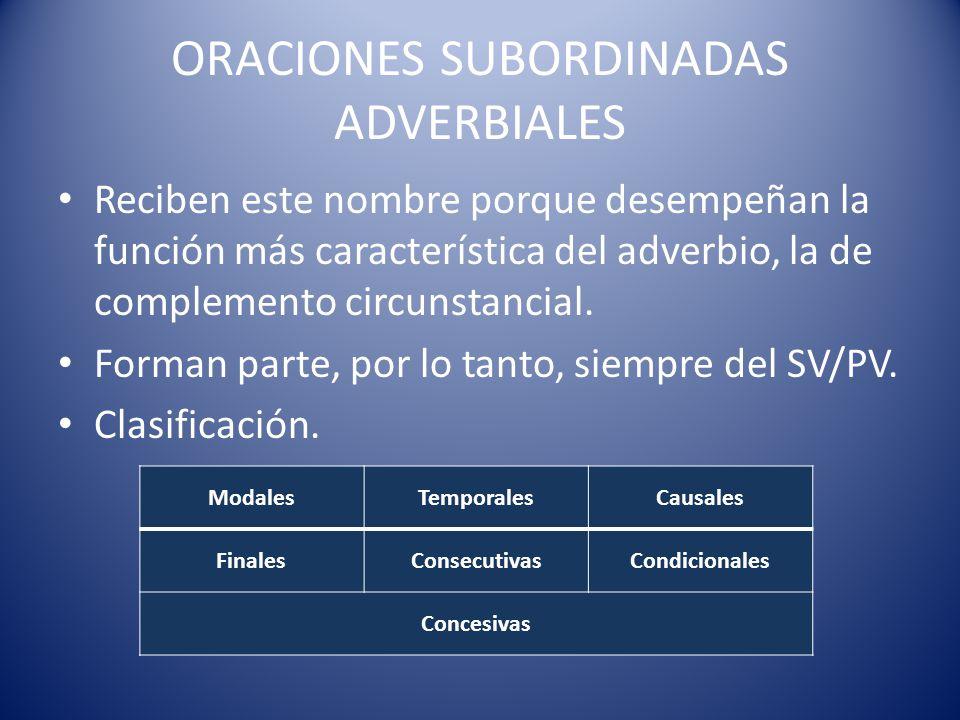 Modales CONJUNCIONES ς Como σπερ MODOIndicativo NEGACIÓNο PECULIARIDAD En la oración principal se encuentra con frecuencia el adverbio οτως