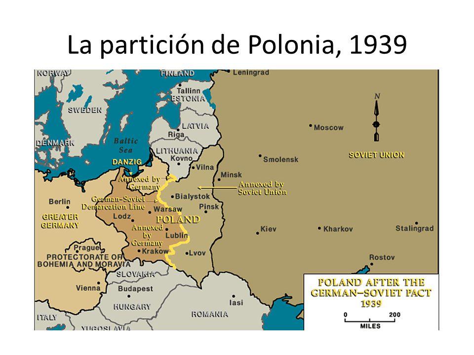 La partición de Polonia, 1939