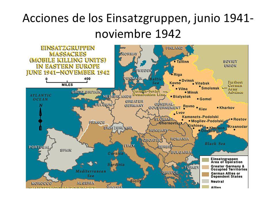 Acciones de los Einsatzgruppen, junio 1941- noviembre 1942