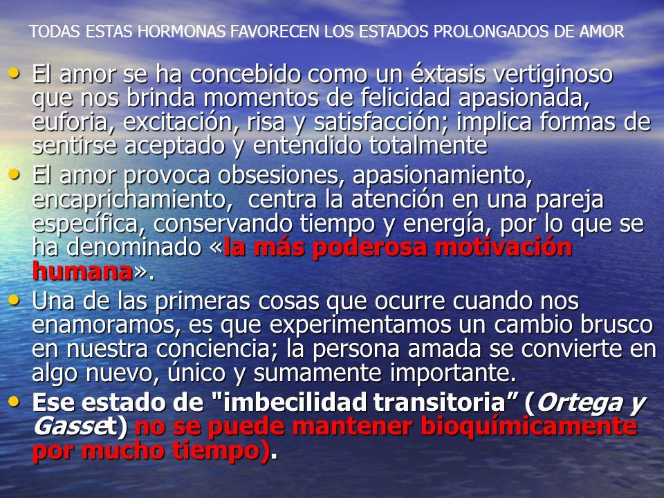 IMPLICACIONES NEUROBIOLÓGICAS Hormonas sexuales (testosterona y estrógenos). Inicio de la sexualidad Feromonas (son