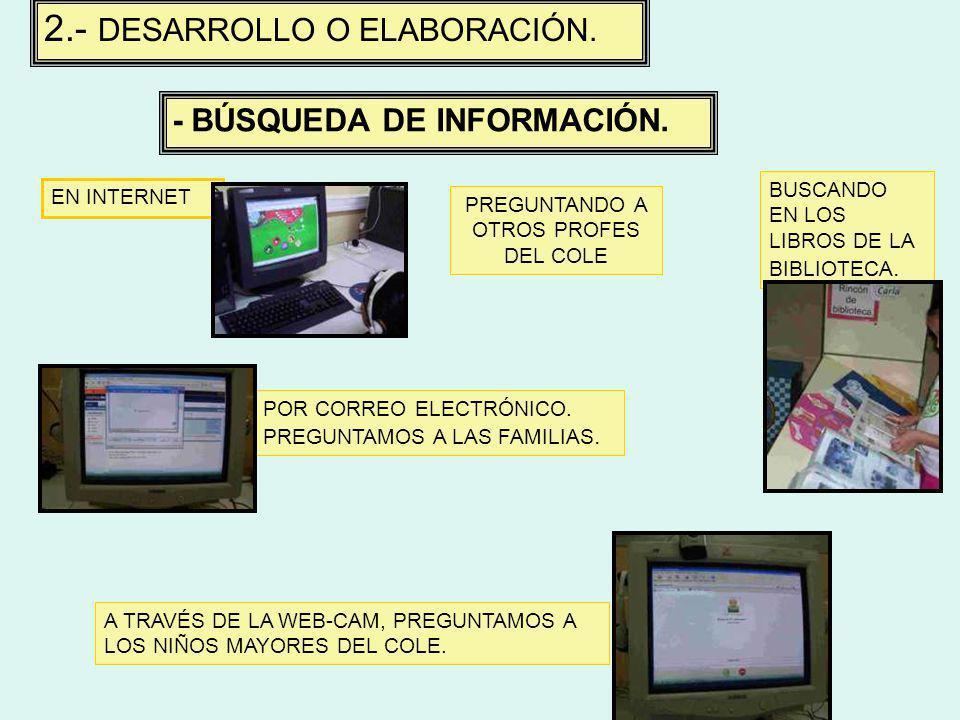 2.- DESARROLLO O ELABORACIÓN.- BÚSQUEDA DE INFORMACIÓN.