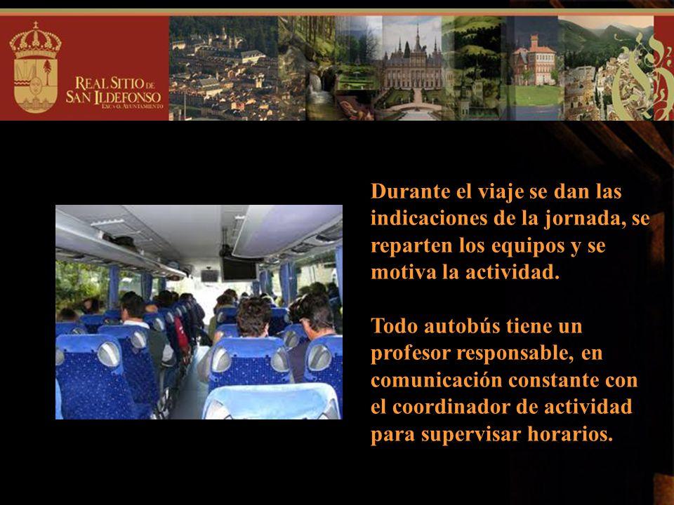 El viaje lo realizaremos en autobuses que recogerán a los alumnos/as en los distintos centros escolares. La salida se hará en el horario habitual de e