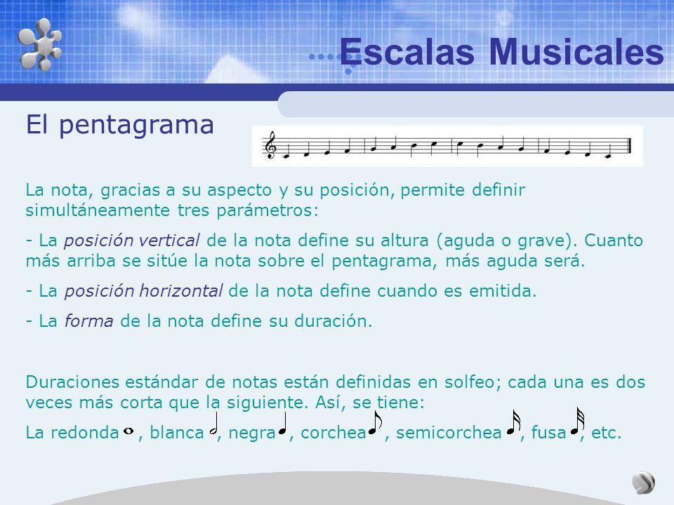 Escalas Musicales El nombre de las notas Más tarde, por las dificultades para cantar, la ut se cambió por do. En el siglo XVI se completó la escala mu