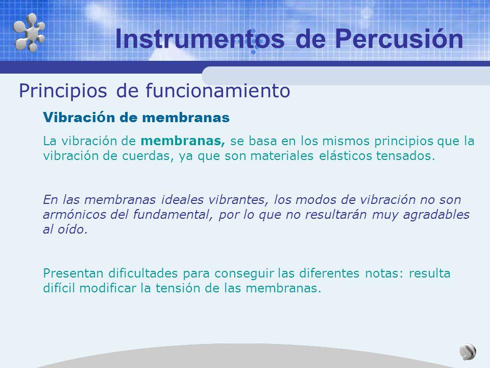 Instrumentos de Percusión Principios de funcionamiento Vibraci ó n de barras o varillas Cuando las varillas vibran longitudinalmente, lo hacen como lo