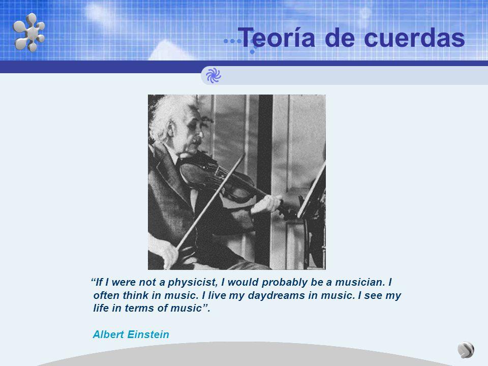 Teoría de cuerdas Albert Einstein, después de formular la teoría de la relatividad, dedicó el resto su vida a desarrollar una Teoría unificada de camp