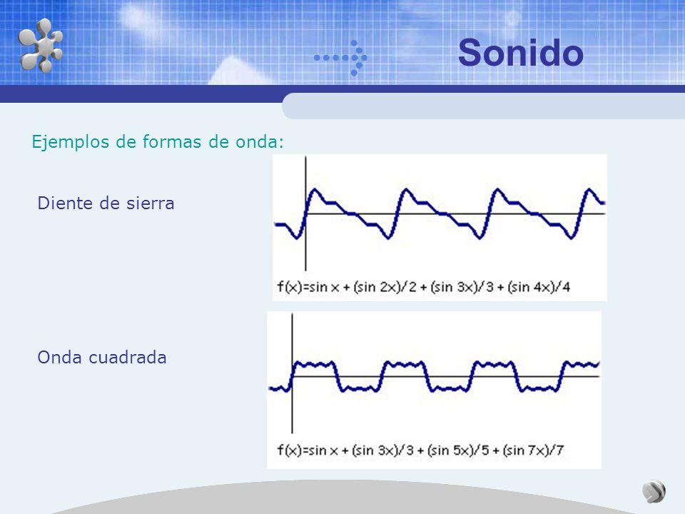 Sonido Los Armónicos y el Timbre: Descomposición de un sonido en sus diferentes armónicos: Teorema de Fourier (análisis armónico) Se puede demostrar q