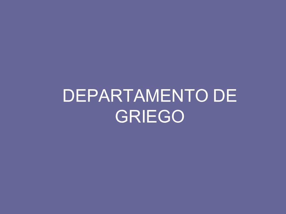 DEPARTAMENTO DE GRIEGO