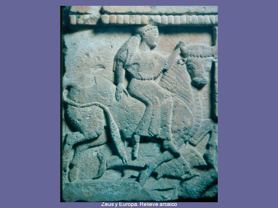 Zeus y Europa. Relieve arcaico