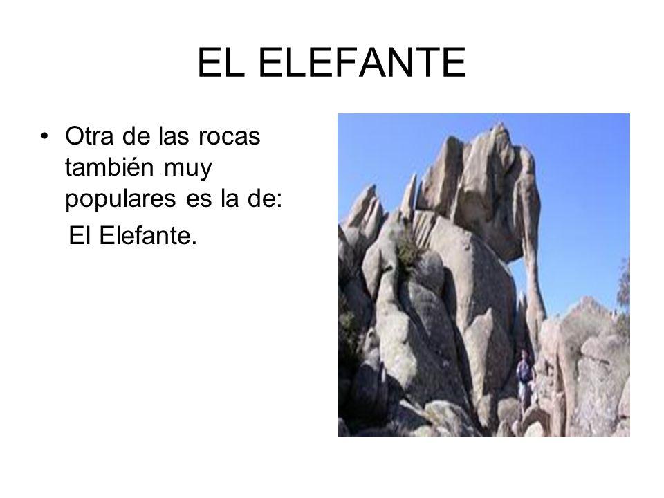 EL ELEFANTE Otra de las rocas también muy populares es la de: El Elefante.
