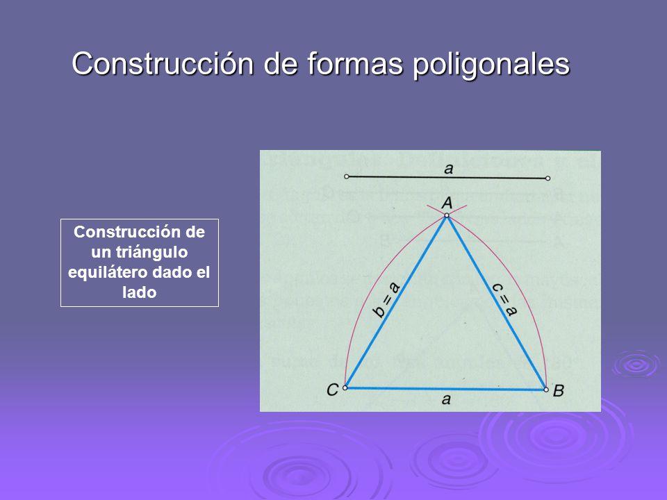 Construcción de un triángulo dada la altura Construcción de un hexágono regular