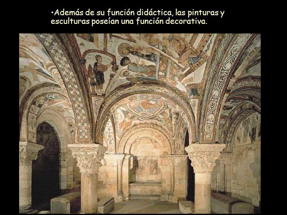 Mª Victoria Landa Además de su función didáctica, las pinturas y esculturas poseían una función decorativa.