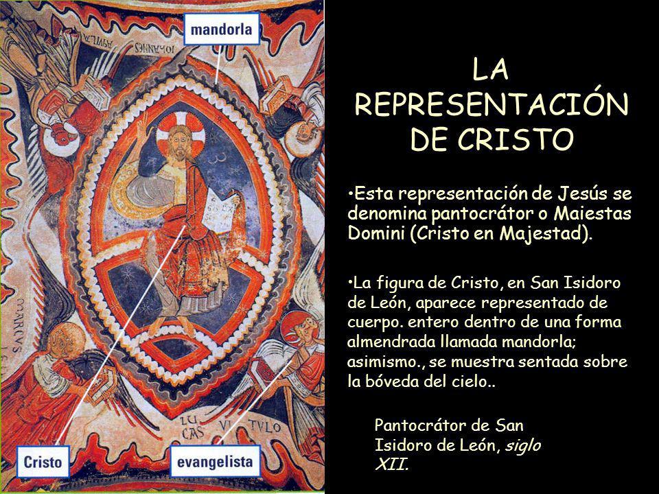Mª Victoria Landa LA REPRESENTACIÓN DE CRISTO Pantocrátor de San Isidoro de León, siglo XII. La figura de Cristo, en San Isidoro de León, aparece repr