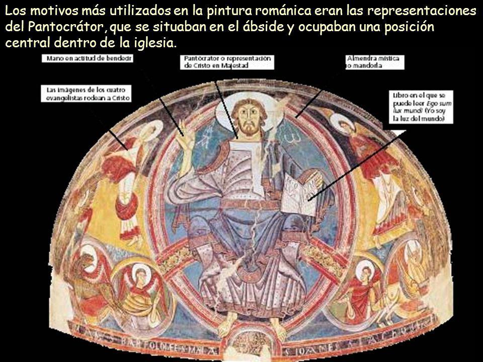 Mª Victoria Landa Los motivos más utilizados en la pintura románica eran las representaciones del Pantocrátor, que se situaban en el ábside y ocupaban
