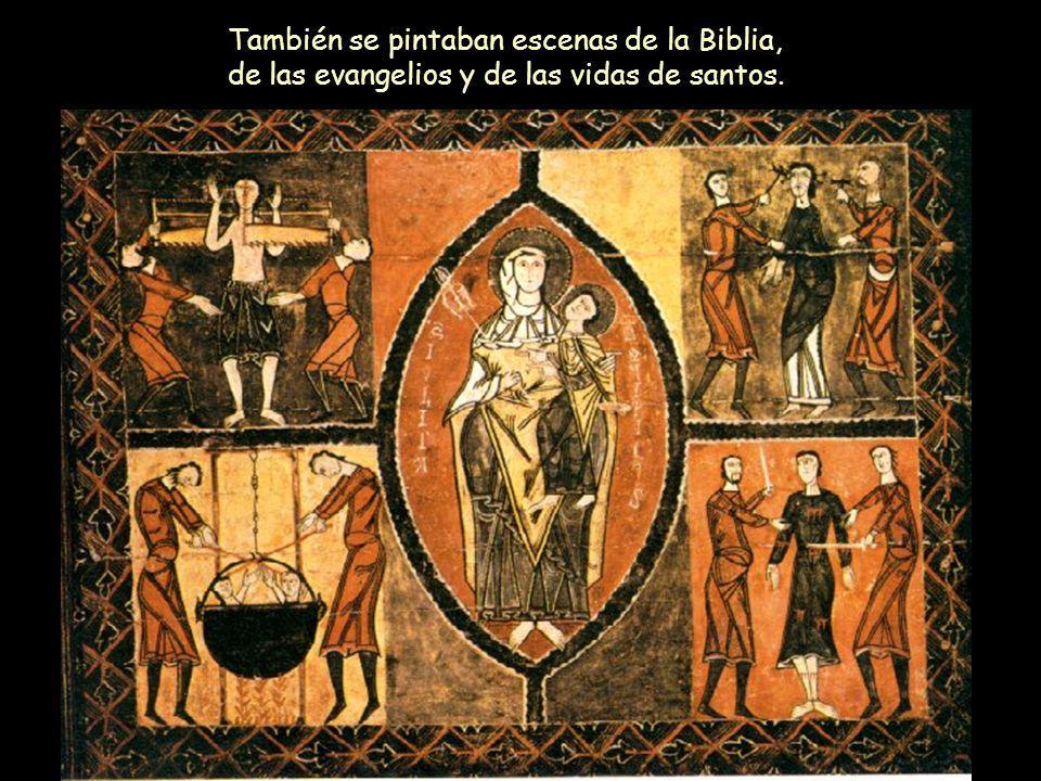 Mª Victoria Landa También se pintaban escenas de la Biblia, de las evangelios y de las vidas de santos.