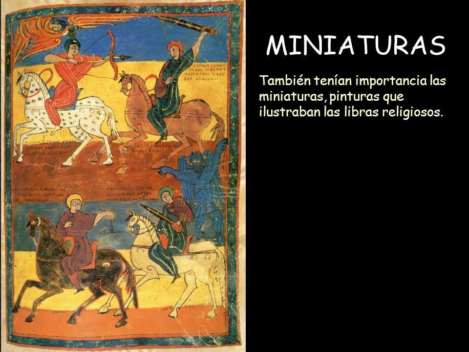 Mª Victoria Landa MINIATURAS También tenían importancia las miniaturas, pinturas que ilustraban las libras religiosos.