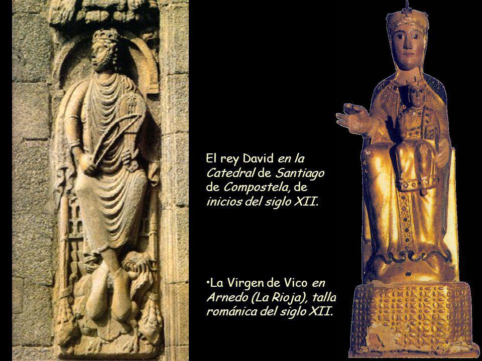 Mª Victoria Landa El rey David en la Catedral de Santiago de Compostela, de inicios del siglo XII. La Virgen de Vico en Arnedo (La Rioja), talla román