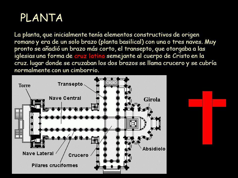 Mª Victoria Landa CABECERA, TESTERO, ÁBSIDE El tipo de templo mas generalizado es el de cruz latina.