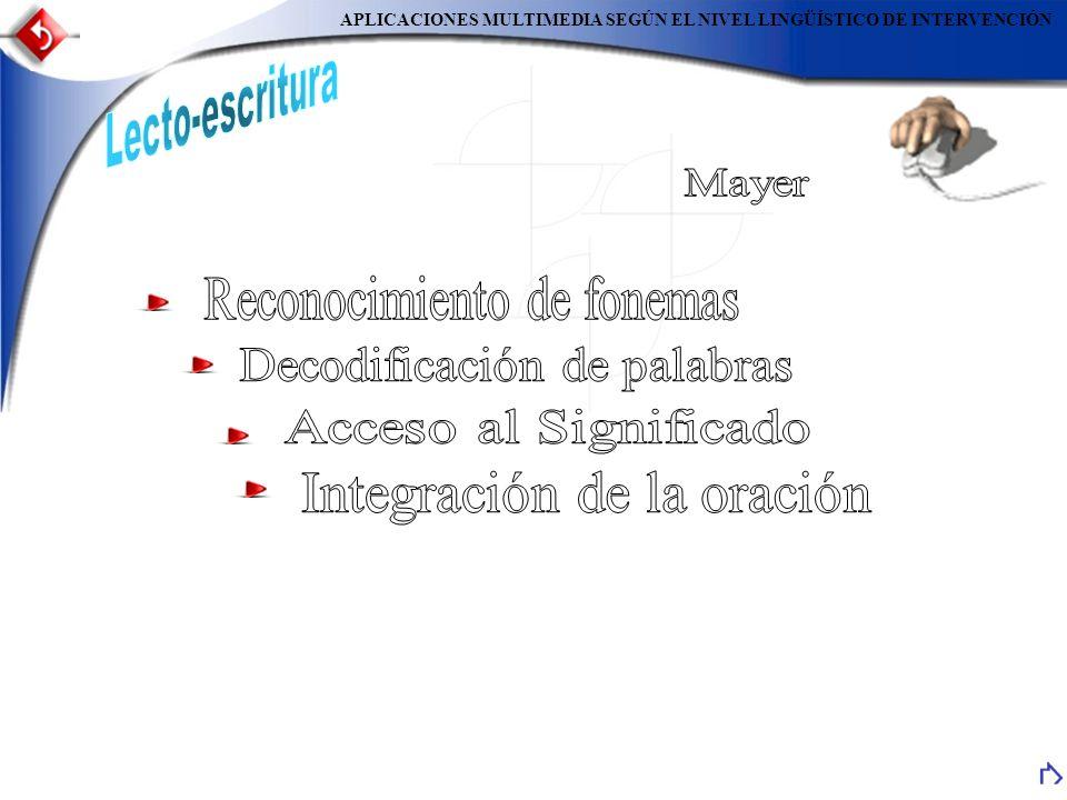 Currículum Contenidos Software Textos – Imagen - Sonido MétodosAplicaciones Lecto-escritura Aspectos Técnicos Ergonomía y S.