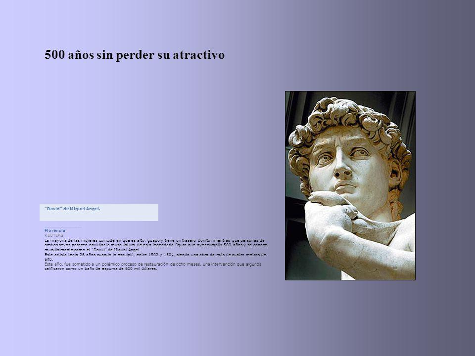 500 años sin perder su atractivo David de Miguel Angel......................................