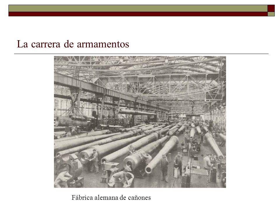 La carrera de armamentos Fábrica alemana de cañones