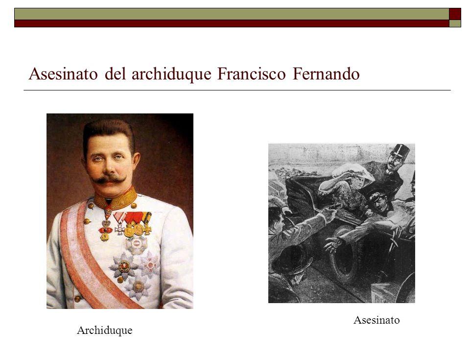 Asesinato del archiduque Francisco Fernando Asesinato Archiduque