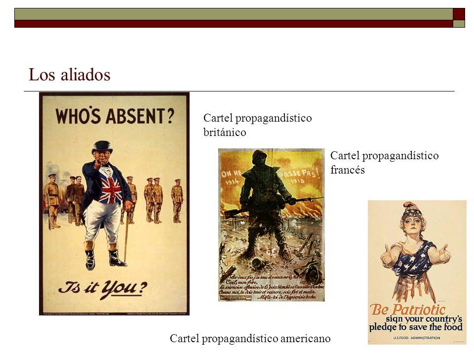 Los aliados Cartel propagandístico británico Cartel propagandístico americano Cartel propagandístico francés