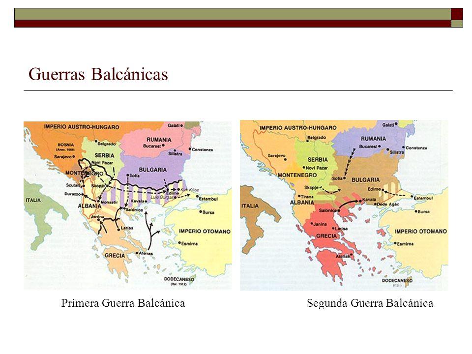 Guerras Balcánicas Primera Guerra BalcánicaSegunda Guerra Balcánica