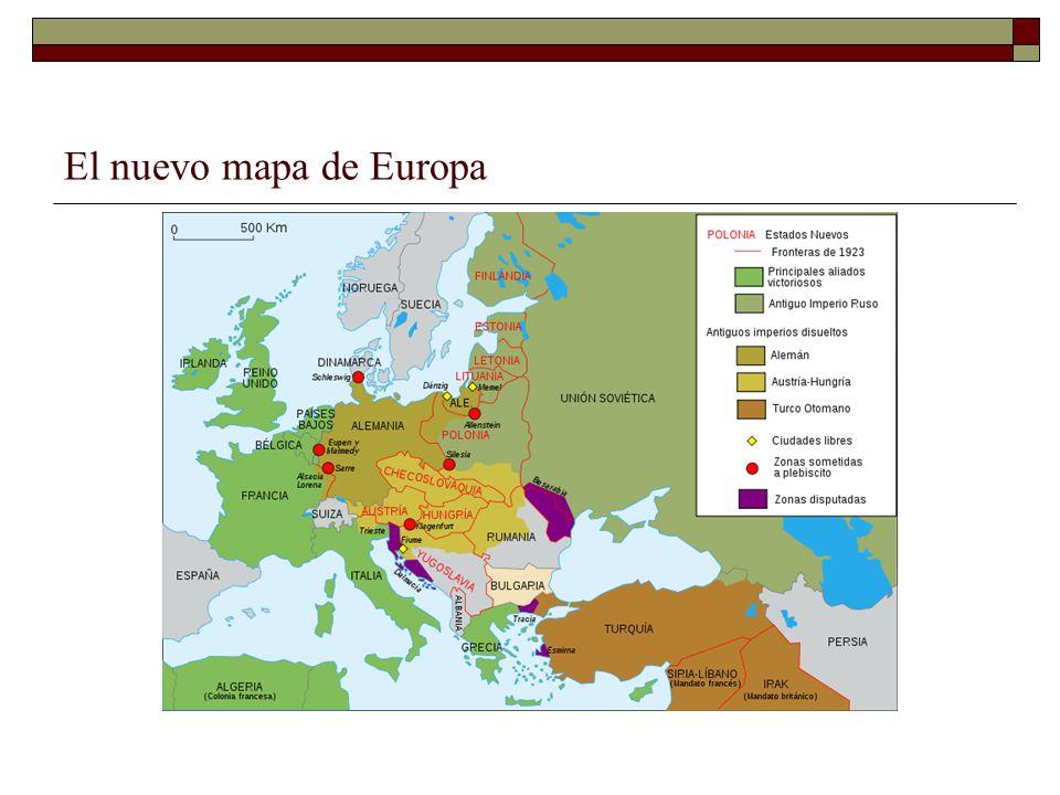 El nuevo mapa de Europa