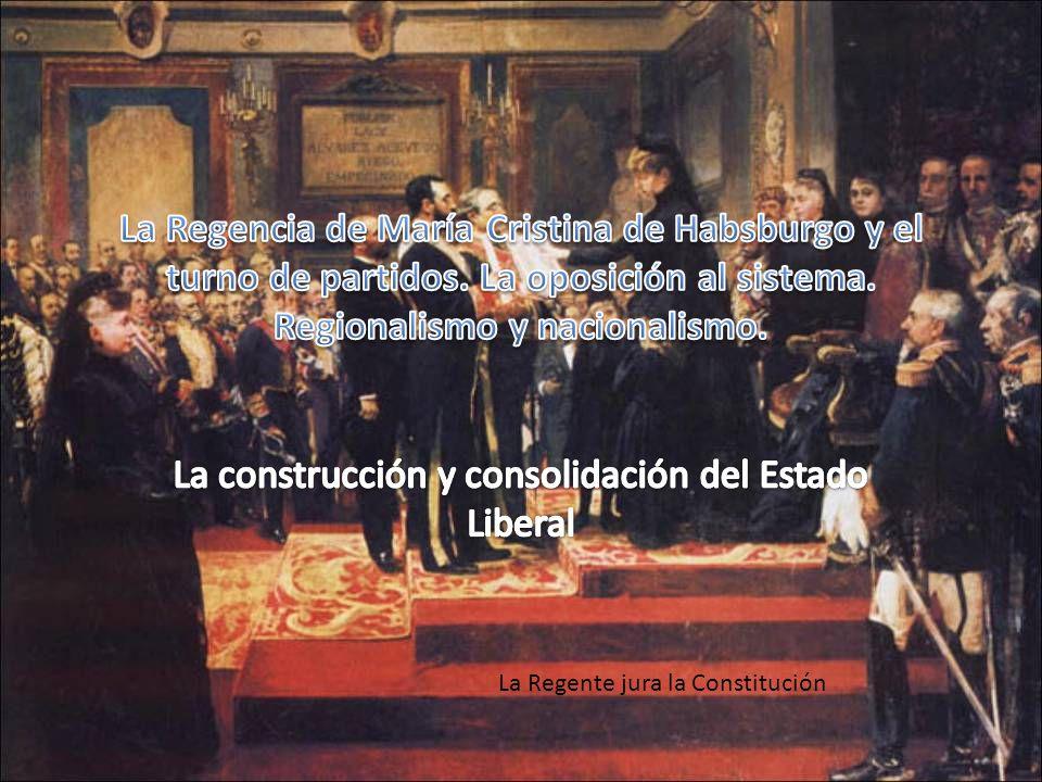 La Regente jura la Constitución