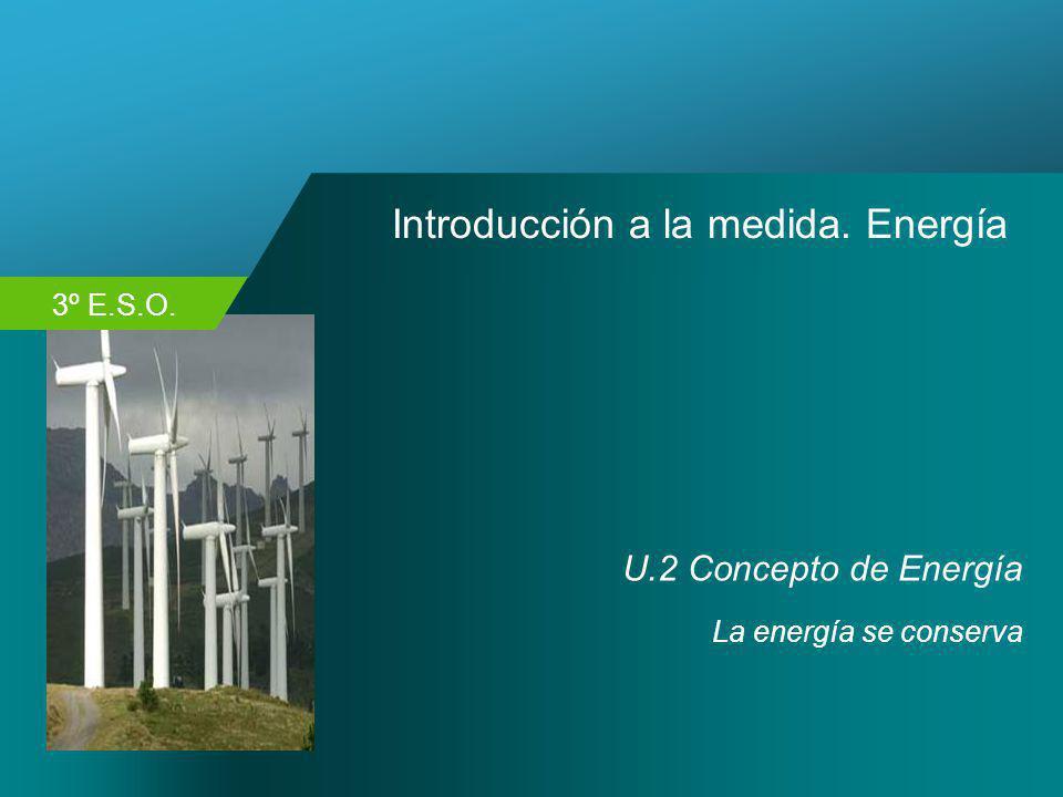 3º E.S.O. Introducción a la medida. Energía U.2 Concepto de Energía La energía se conserva