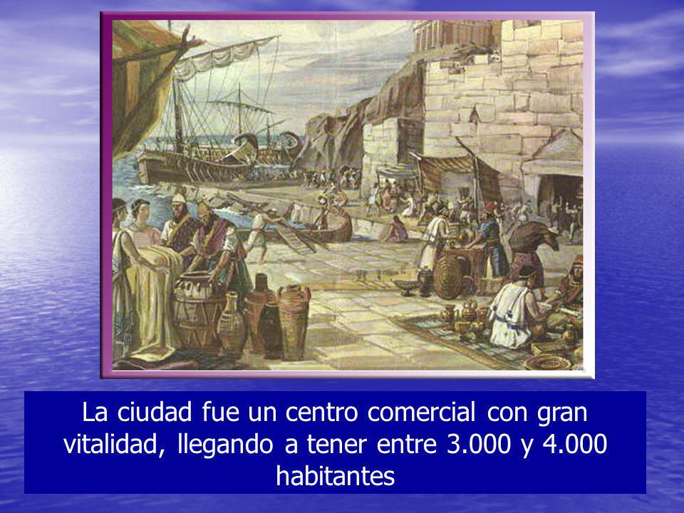 La ciudad fue un centro comercial con gran vitalidad, llegando a tener entre 3.000 y 4.000 habitantes