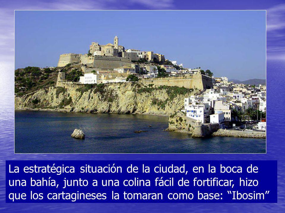 La estratégica situación de la ciudad, en la boca de una bahía, junto a una colina fácil de fortificar, hizo que los cartagineses la tomaran como base