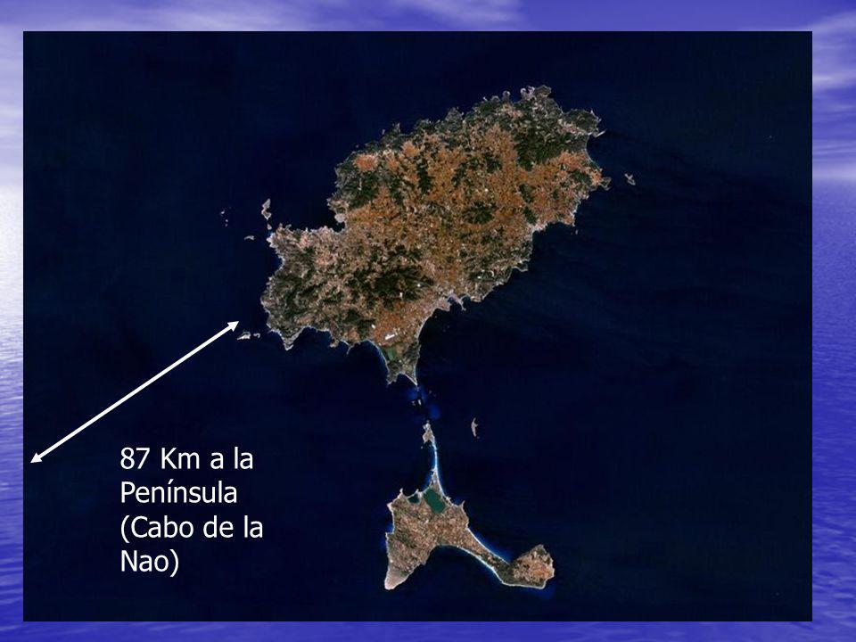 87 Km a la Península (Cabo de la Nao)