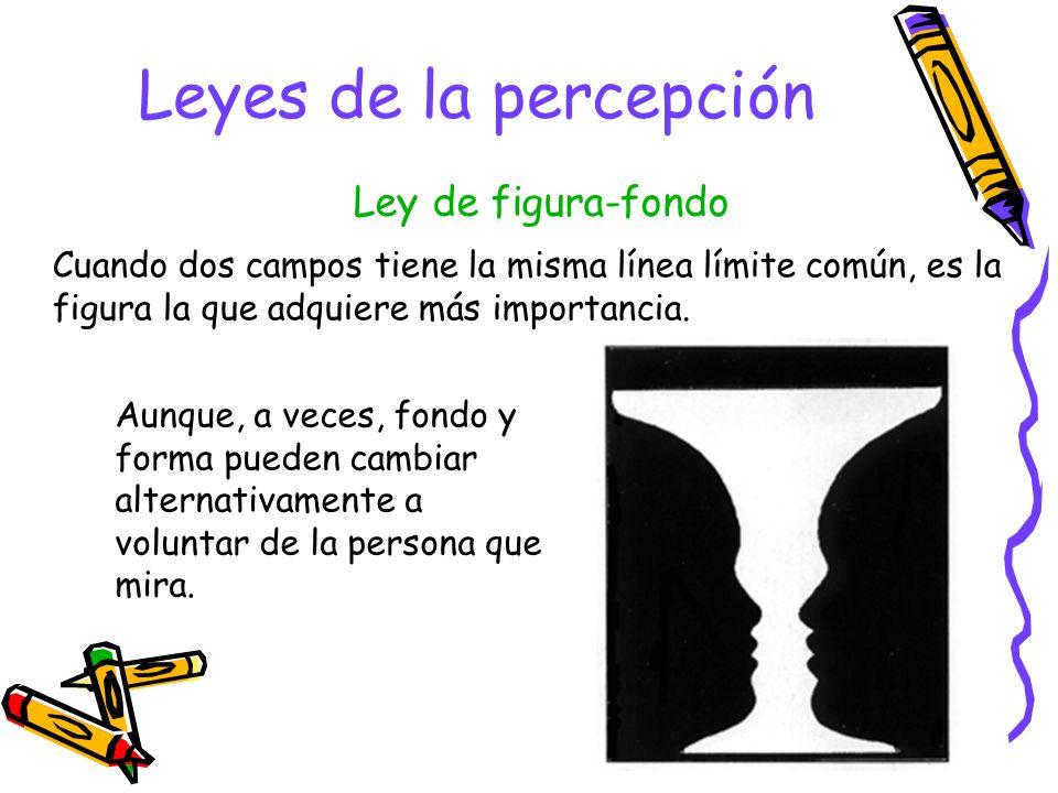 Leyes de la percepción Tendemos a cerrar las líneas de modo que formen los límites de figuras conocidas. Ley del cerramiento
