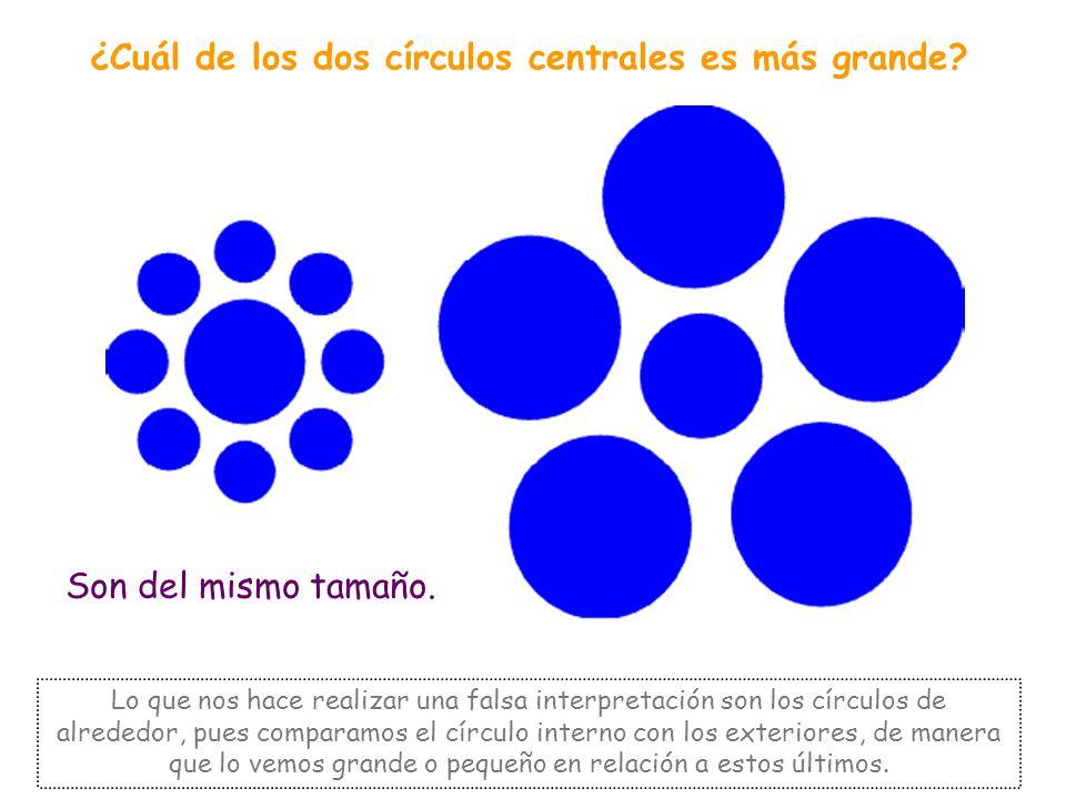 TAMAÑO Dentro de este grupo se incluyen aquellas imágenes en las que elementos del mismo tamaño parece que no lo son.
