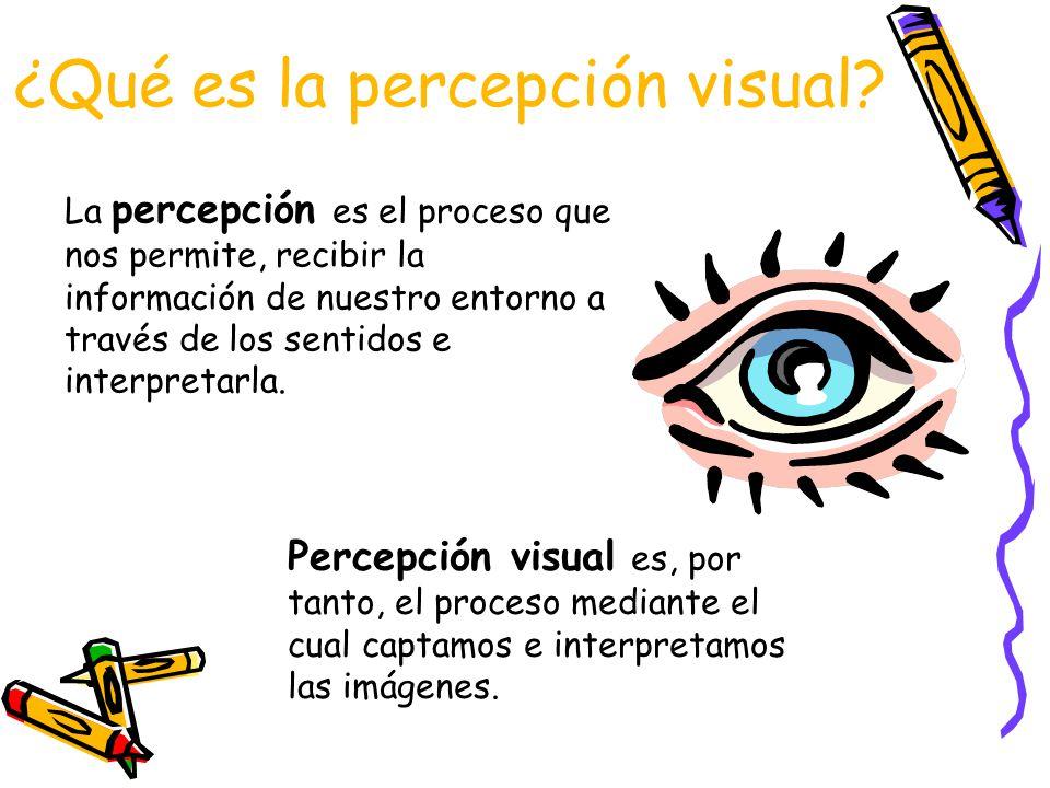 ¿Qué es la percepción visual.