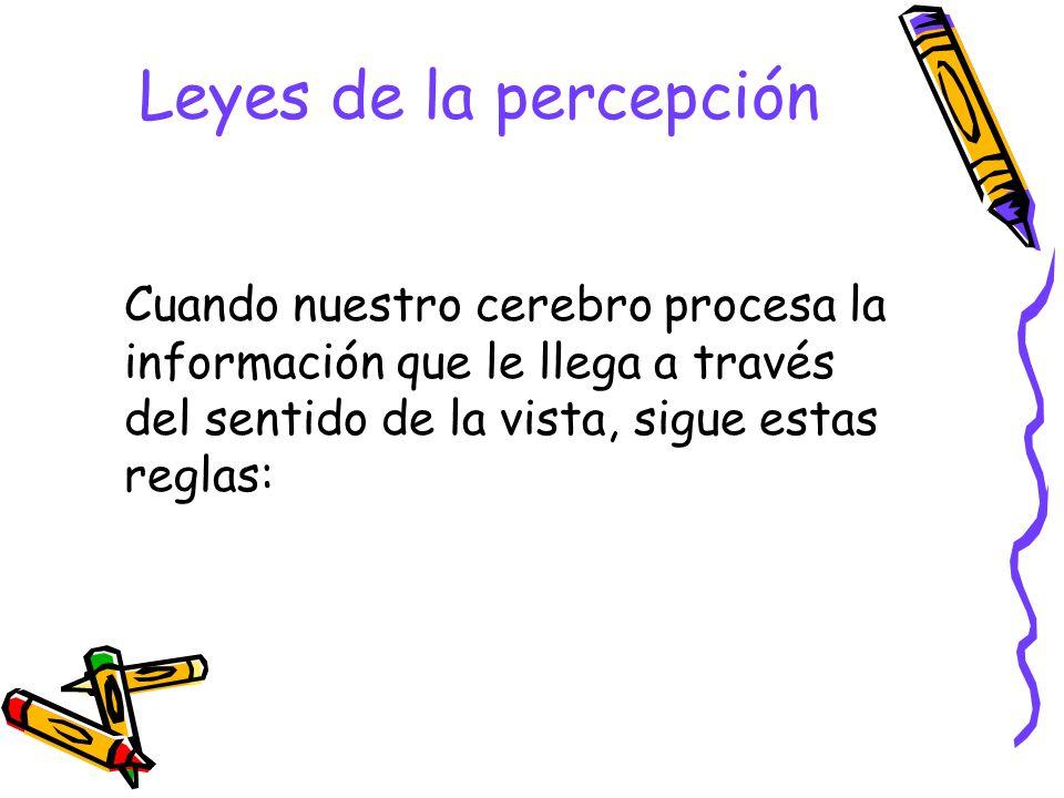 ¿Qué es la percepción visual? La percepción es el proceso que nos permite, recibir la información de nuestro entorno a través de los sentidos e interp