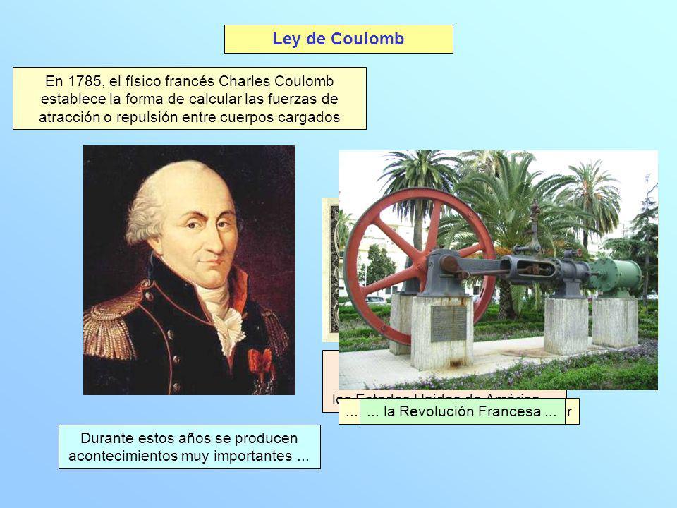 En 1785, el físico francés Charles Coulomb establece la forma de calcular las fuerzas de atracción o repulsión entre cuerpos cargados Ley de Coulomb D