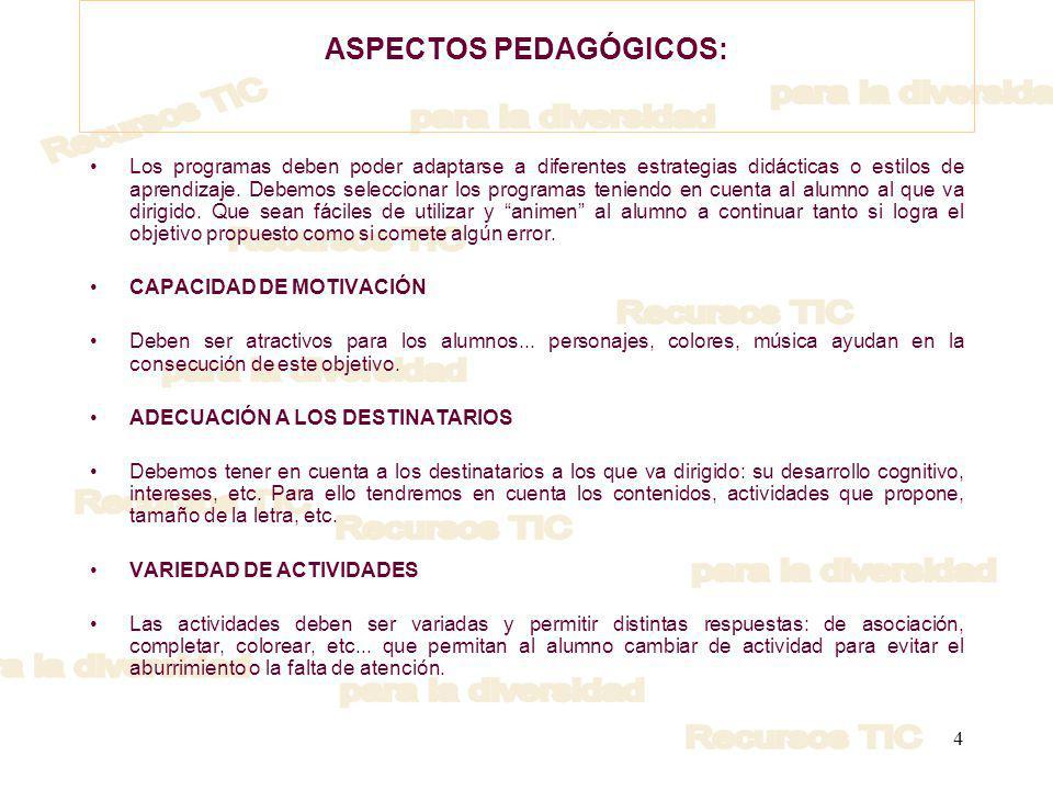 5 PASOS A SEGUIR EN LA INTRODUCCIÓN DE LOS ORDENADORES COMO HERRAMIENTA DE TRABAJO CON NUESTROS ALUMNOS OBJETIVOS 1.Familiarizar a nuestros alumnos con el uso del ratón: o Programas El ratón (CNICE), http://www.cnice.mecd.es/eos/MaterialesEducativos/mem2001/raton/index.htm http://www.cnice.mecd.es/eos/MaterialesEducativos/mem2001/raton/index.htm o El ratón: CLIC, http://clic.xtec.net/db/act_es.jsp?id=1011)http://clic.xtec.net/db/act_es.jsp?id=1011 o Pogramas de dibujo PAINT, o Pizarra Educamadrid, http://www.educa.madrid.org/portal/c/contents/stored_search/view_content?cont entId=88&layoutId=1822.4&portletId=201&p_p_id=201&p_l_id=1822.4# http://www.educa.madrid.org/portal/c/contents/stored_search/view_content?cont entId=88&layoutId=1822.4&portletId=201&p_p_id=201&p_l_id=1822.4# 2.Resolución de actividades propuestas con diverso tipo de respuestas por parte del alumno.