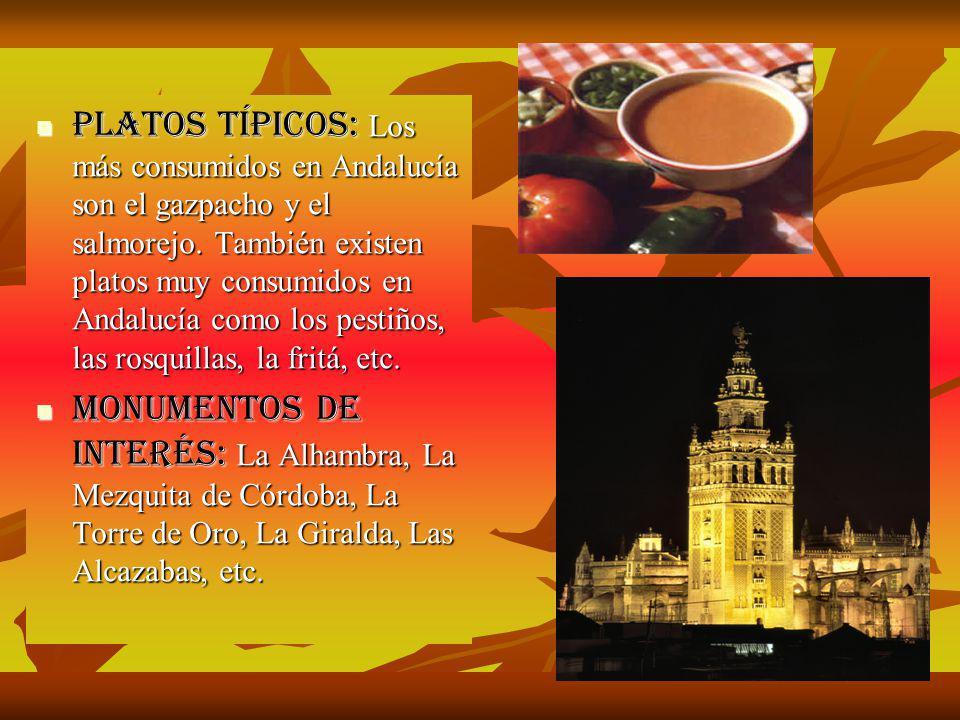 Fiestas tradicionales: Destacan la feria de Abril, el Rocío y la Semana Santa.