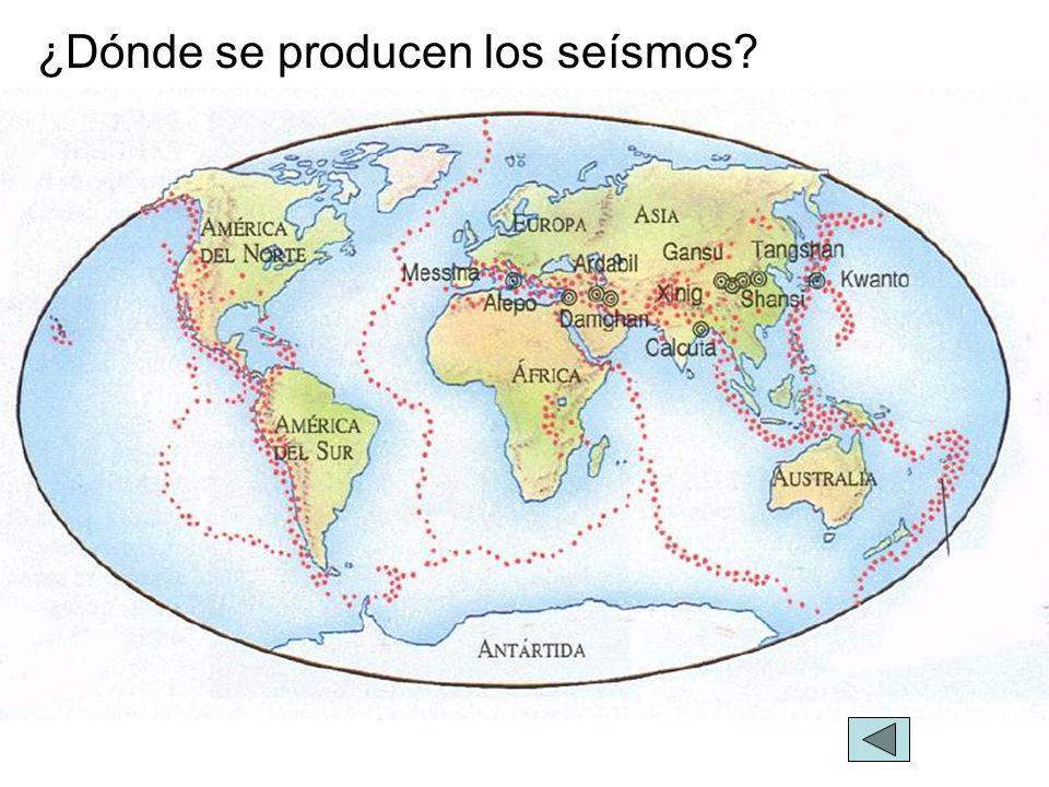 ¿Dónde se producen los seísmos?