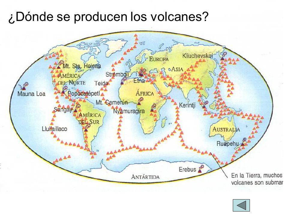 ¿Dónde se producen los volcanes?