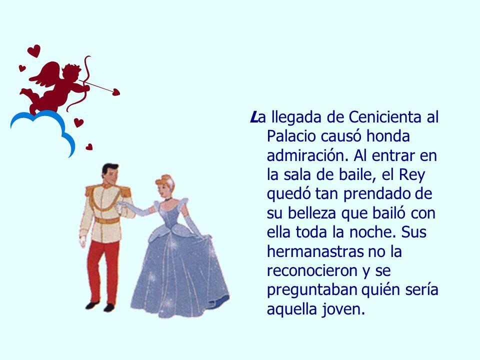 En medio de tanta felicidad Cenicienta oyó sonar en el reloj de Palacio las doce.