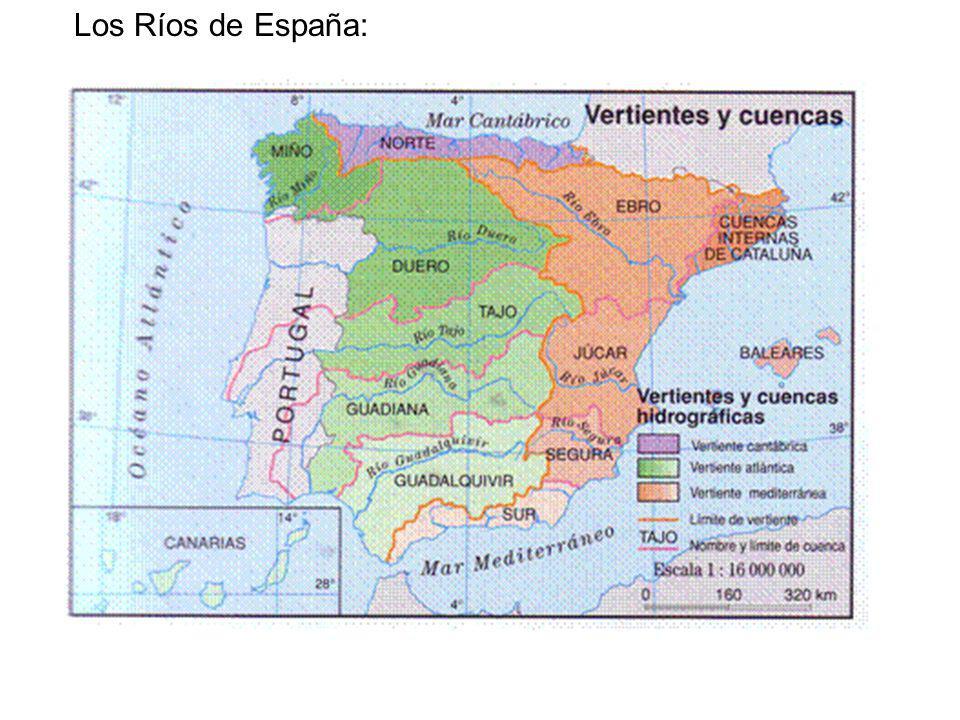 LA VERTIENTE CANTÁBRICA Los ríos de la vertiente cantábrica son: Muy numerosos y cortos, porque las montañas en las que nacen se encuentran muy cerca del mar.