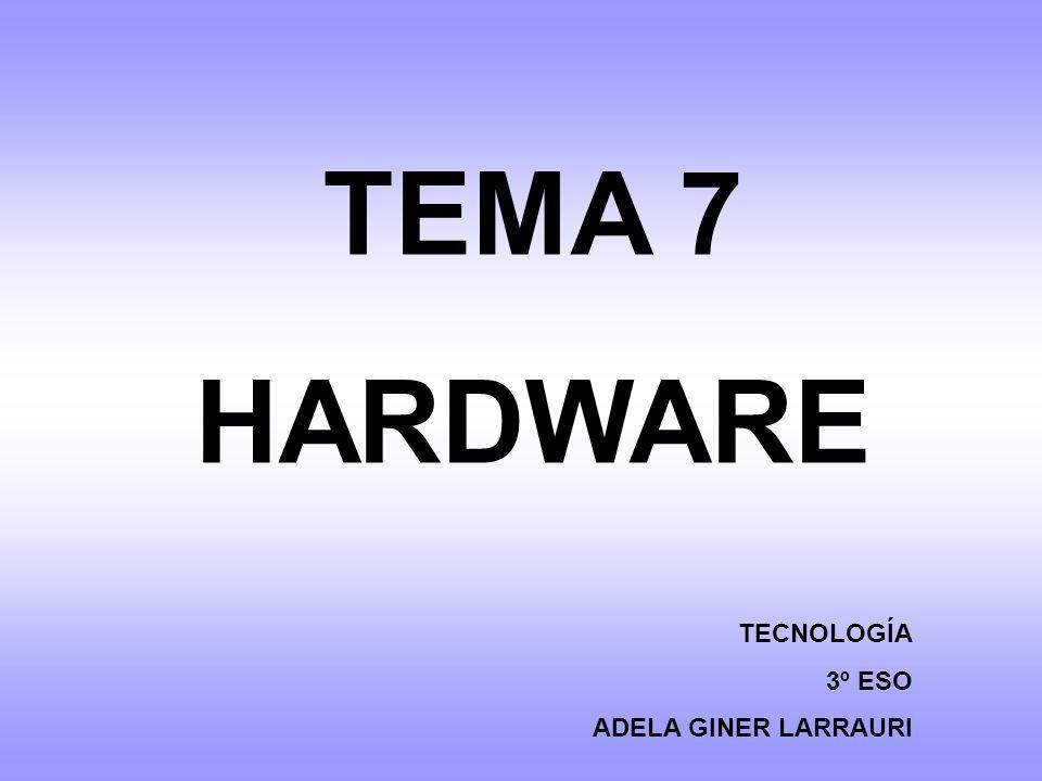 TEMA 7 HARDWARE TECNOLOGÍA 3º ESO ADELA GINER LARRAURI