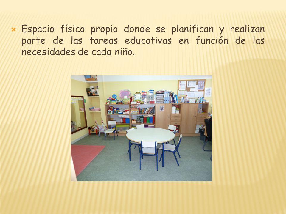 Espacio físico propio donde se planifican y realizan parte de las tareas educativas en función de las necesidades de cada niño.